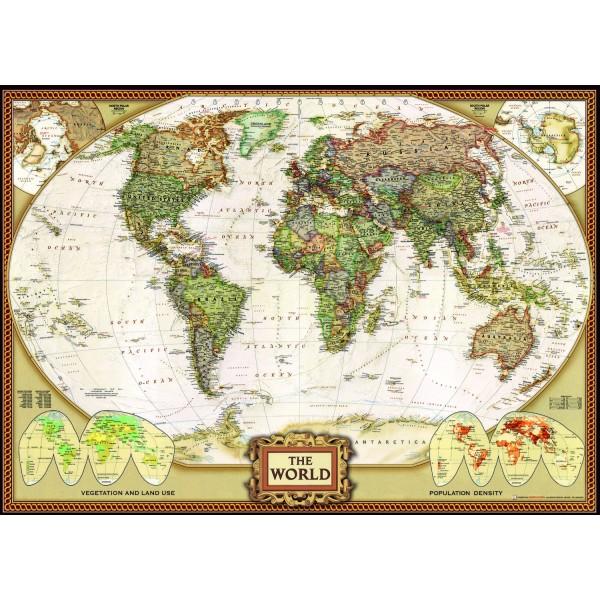 Planisphere - Brown Globe